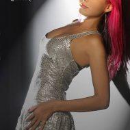 Alinne rosa cabelo rosa