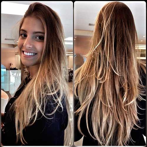 cabelo repicado em camadas com californiana