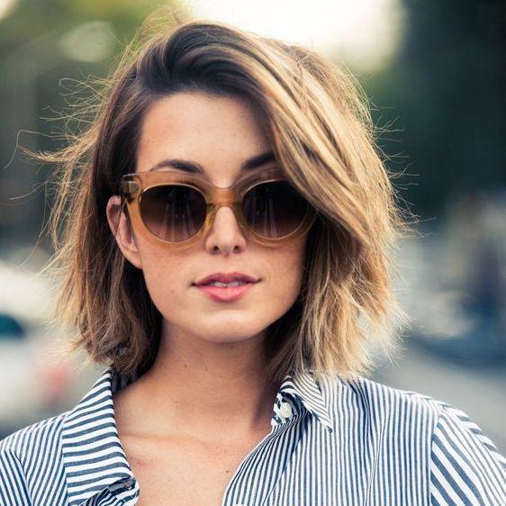 cabelos curtos 2016 repicados com franja