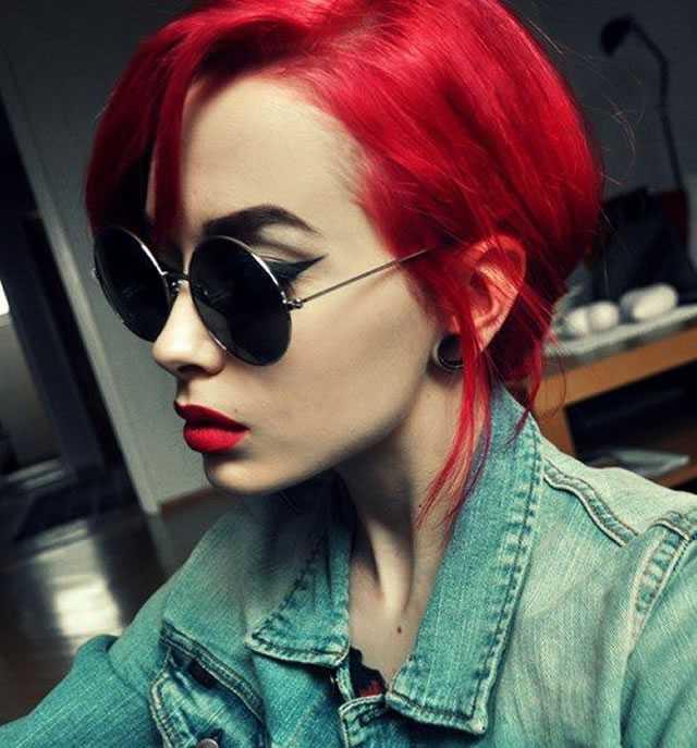 cabelos curtos vermelhos tumblr