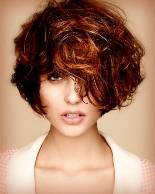 corte curto para cabelo ondulado