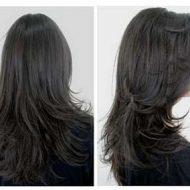 Corte de cabelo camadas