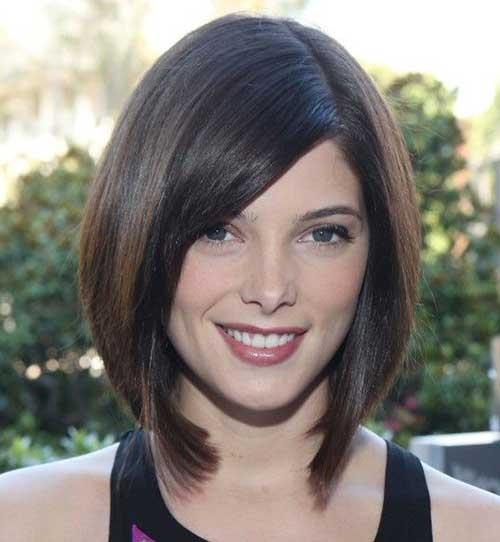 corte de cabelo chanel para rosto redondo