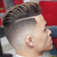 Corte de cabelo com listra