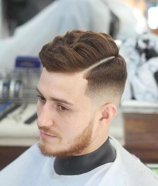 corte de cabelo com risco
