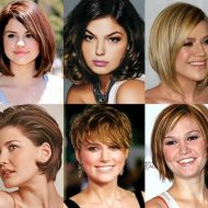 Corte de cabelo curto 2017 para rosto redondo