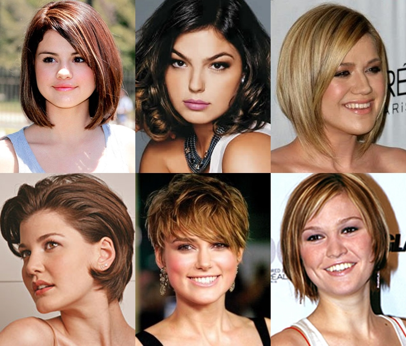 corte de cabelo curto para rosto redondo 2015