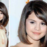Corte de cabelo curto para rosto redondo e cabelo volumoso