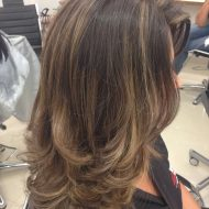 Corte de cabelo degrade em camadas