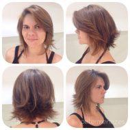 Corte de cabelo desfiado curto