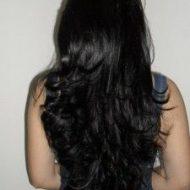 Corte de cabelo em camadas longo