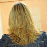 Corte de cabelo em u