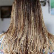 Corte de cabelo em u de costas