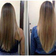 Corte de cabelo em v