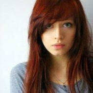 Corte de cabelo franja