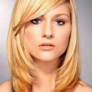 Corte de cabelo liso feminino