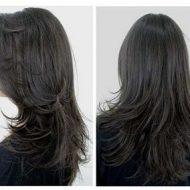 Corte de cabelo longo repicado