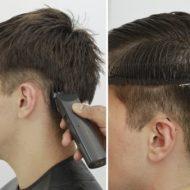Corte de cabelo masculino com maquina passo a passo