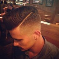 Corte de cabelo masculino com risco