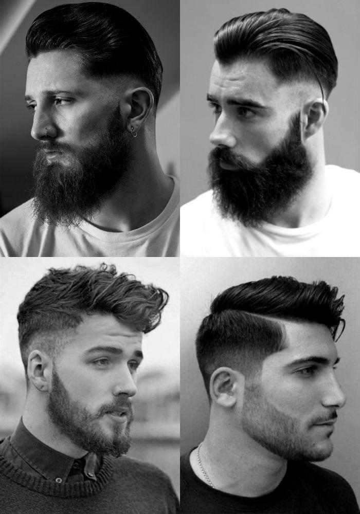 corte de cabelo masculino degrade com barba