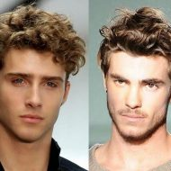 Corte de cabelo masculino ondulado