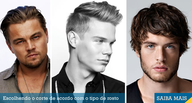 corte de cabelo masculino para cada tipo de rosto