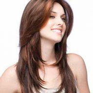 Corte de cabelo medio desfiado