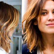 Corte de cabelo medio repicado com californiana