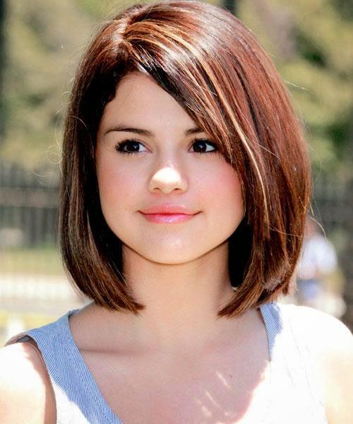 Lindos cortes de cabelo Curto para Rosto Redondo Forma. Franja reta rosto  oval 0bd1783029