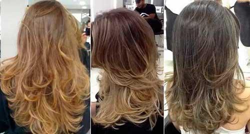 corte de cabelo repicado em camadas