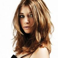 Corte de cabelo repicado medio