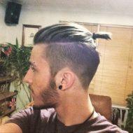 Corte de cabelo samurai