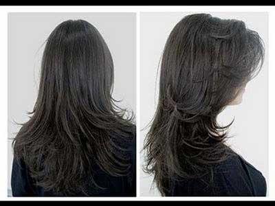 corte de cabelo v repicado