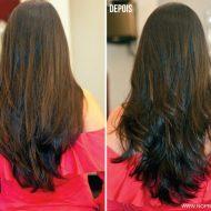 Cortes de cabelo longo de costas repicado
