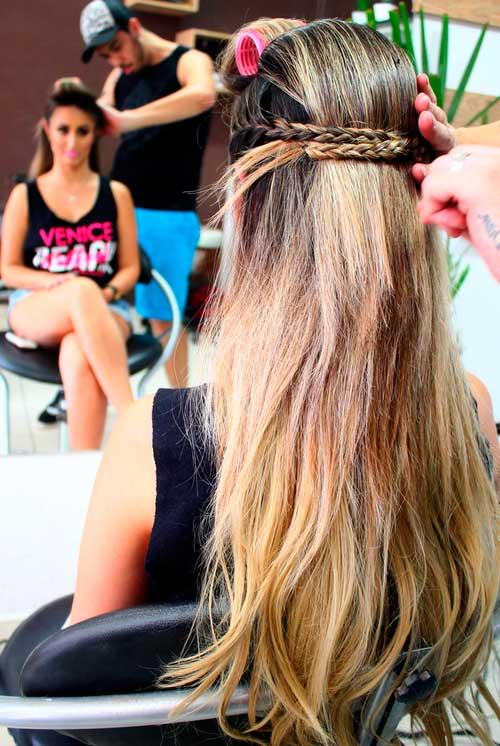 penteado com mega hair
