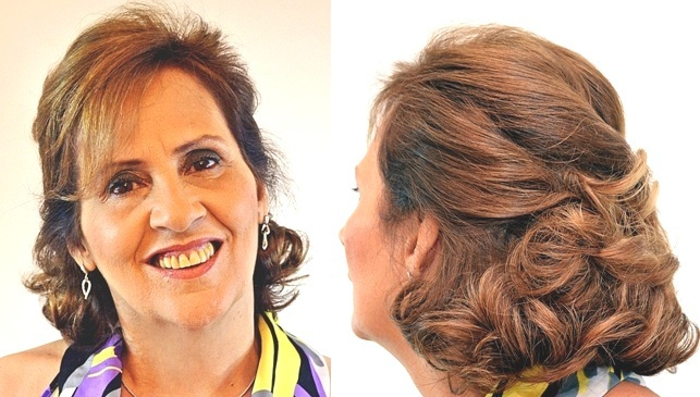 penteado para senhora cabelo curto