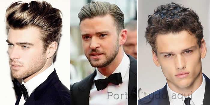 penteados masculinos para casamento