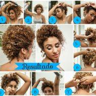 Penteados para cabelos afros curtos passo a passo
