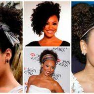 Penteados para cabelos cacheados curtos e volumosos