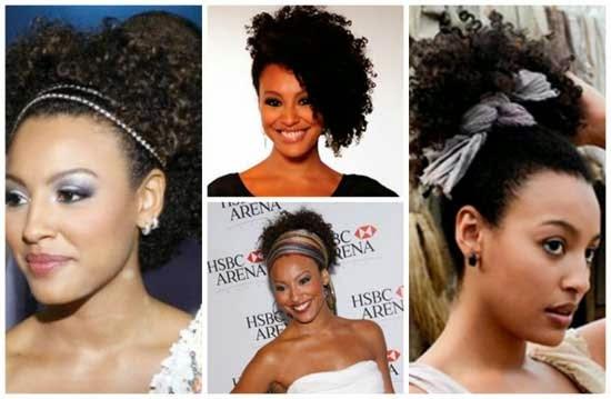 penteados para cabelos crespos curtos e volumosos
