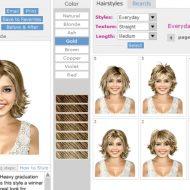 Simulador de corte de cabelo feminino